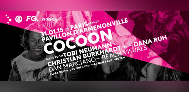 Slider The Tribes presents Cocoon Nights Tobi Neumann Christian Burkhardt live Dana Ruh Dan Marciano Dure Vie Samedi 31 janvier 2015 Pavillon d'Armenonville