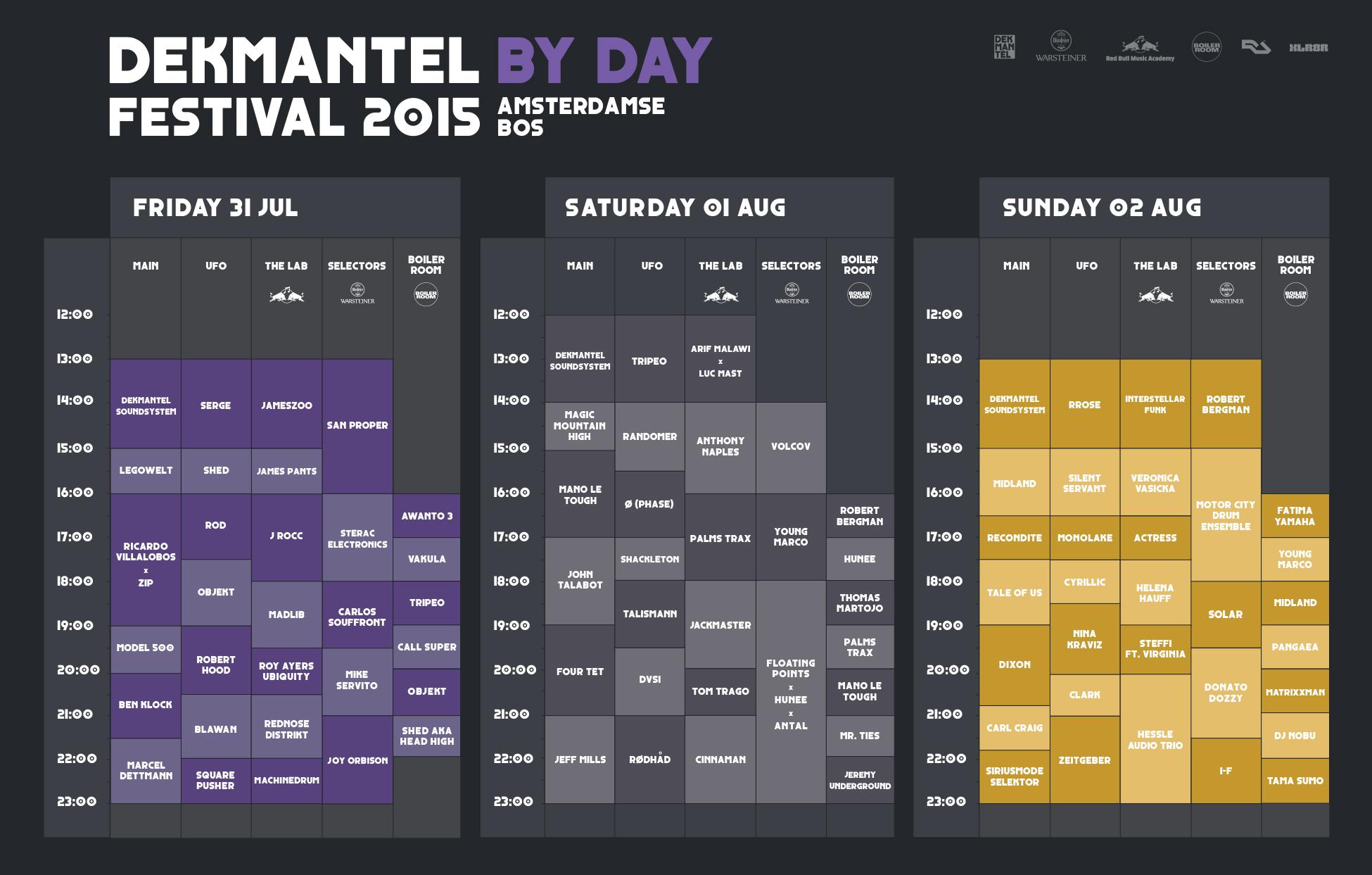 Dekmantel Festival 2015 - timetable - 005